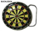 Dartboard Darts Belt Buckle + display stand. Code AK8